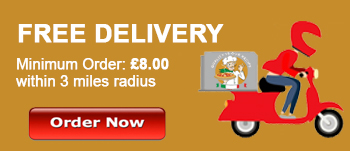 Free Home Delivery at Caspian Pizza Heywood